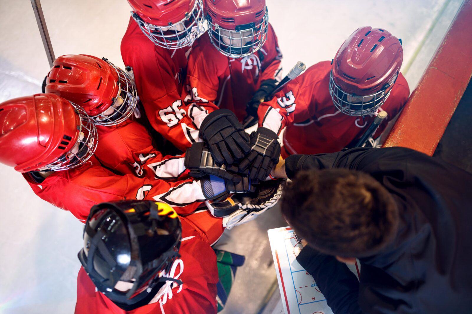 Hockeylag i ring
