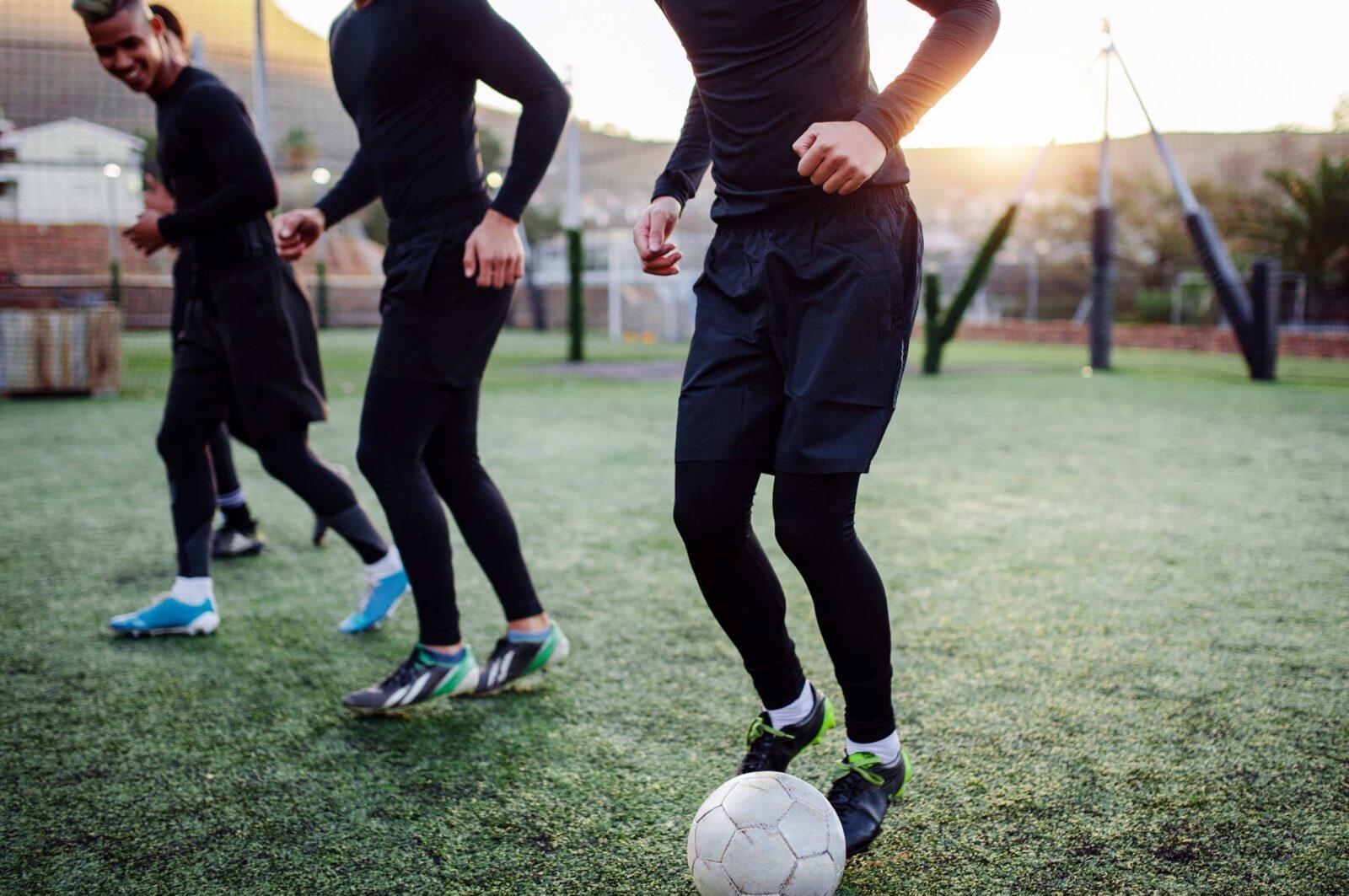 Fotbollslag i träning